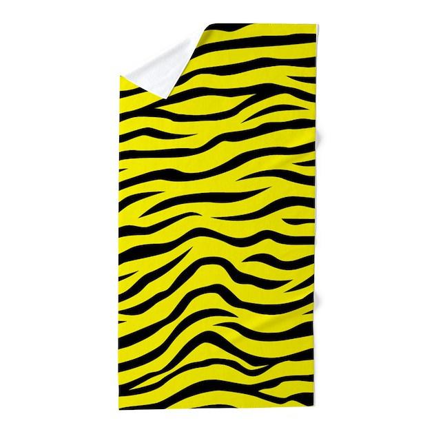 Bright Neon Yellow And Black Animal Print Zebra St By