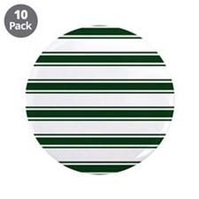 """Forest Green and White Stripes; Striped 3.5"""" Butto"""