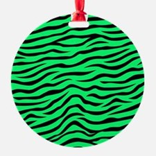 Neon Lime Green and Black Animal Print Zebra Strip