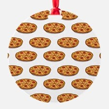 Pepperoni Pizza Pattern; Italian Food Ornament