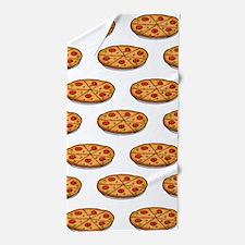 Pepperoni Pizza Pattern; Italian Food Beach Towel