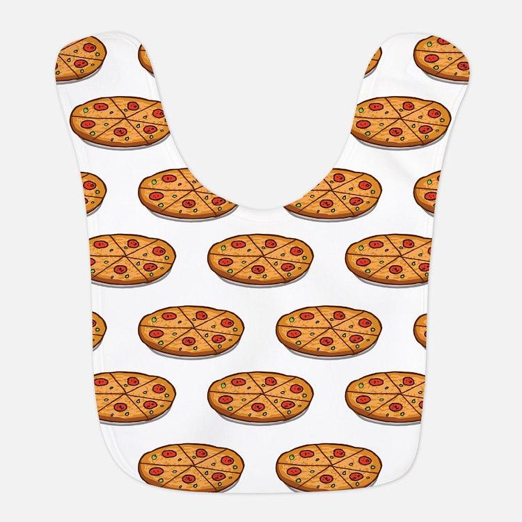 Pepperoni Pizza Pattern; Italian Food Bib