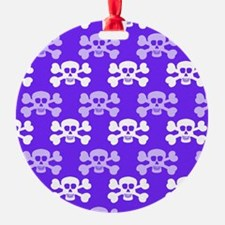 Violet Blue, Purple and White Skull Cross Bones Or