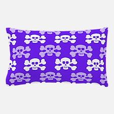 Violet Blue, Purple and White Skull Cross Bones Pi