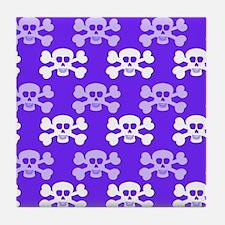 Violet Blue, Purple and White Skull Cross Bones Ti