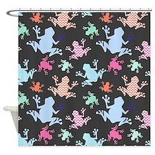 Colorful Chevron Frog Pattern; Blue, Pink, Aqua, S