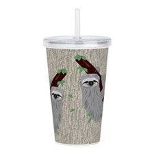Sloth Acrylic Double-Wall Tumbler