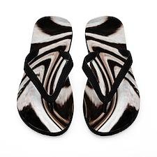 Zebra Love Flip Flops