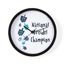 National Dreidel Champion Wall Clock