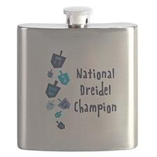 National Dreidel Champion Flask