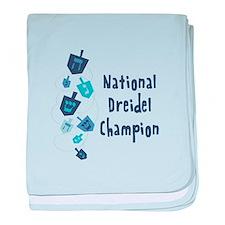 National Dreidel Champion baby blanket