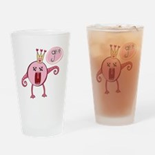 Love Monster Queen Grrr Drinking Glass