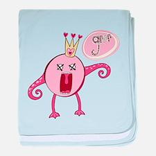 Love Monster Queen Grrr baby blanket