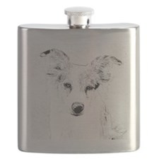 Penny pencil drawing Flask