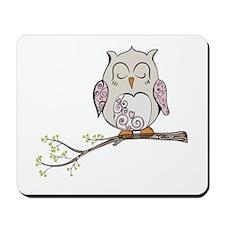 Sleeping Owl Mousepad