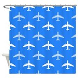 Kids airplane Shower Curtains