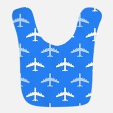 Sky Blue and White Airplane; Plane Bib