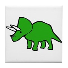 Cute Triceratops Tile Coaster
