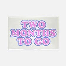 Two Months To Go Rectangle Magnet