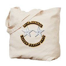 Navy - Rear Admiral - O-8- w Text Tote Bag