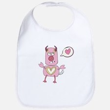 Love Pig Monster Bib