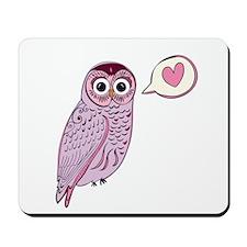 Purple Love Owl Mousepad