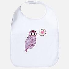 Purple Love Owl Bib