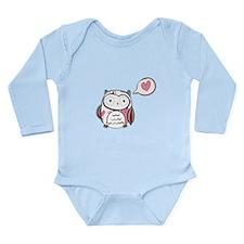 Cartoon White Love Owl Body Suit
