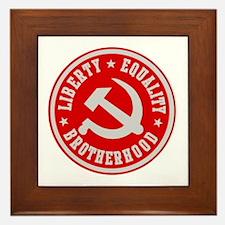LIBERTY EQUALITY BROTHERHOOD Framed Tile