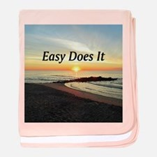 EASY DOES IT baby blanket
