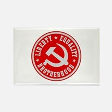 LIBERTY EQUALITY BROTHERHOOD Rectangle Magnet