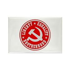 LIBERTY EQUALITY BROTHERHOOD Rectangle Magnet (100