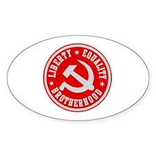 LIBERTY EQUALITY BROTHERHOOD Oval Decal