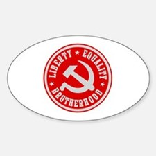 LIBERTY EQUALITY BROTHERHOOD Oval Decal