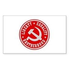 LIBERTY EQUALITY BROTHERHOOD Rectangle Decal