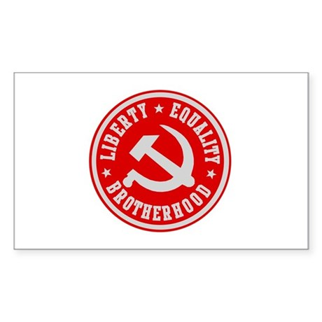 LIBERTY EQUALITY BROTHERHOOD Rectangle Sticker