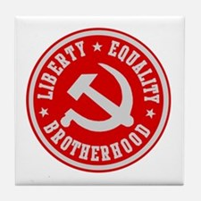 LIBERTY EQUALITY BROTHERHOOD Tile Coaster
