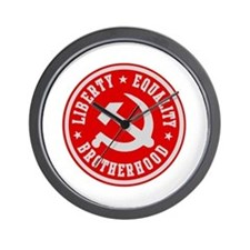 LIBERTY EQUALITY BROTHERHOOD Wall Clock