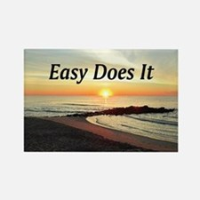 EASY DOES IT Rectangle Magnet