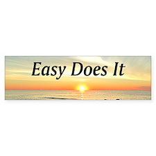 EASY DOES IT Bumper Sticker