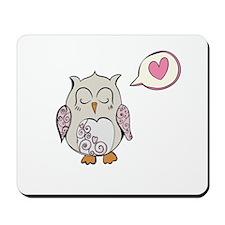 Sleeping Love Owl Mousepad