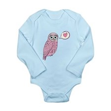 Pink Love Owl Body Suit