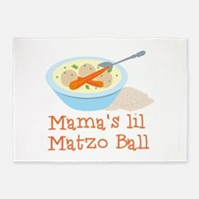Mama's Lil Matzo Ball 5'x7'Area Rug