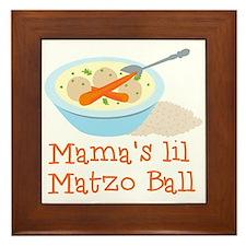 Mama's Lil Matzo Ball Framed Tile
