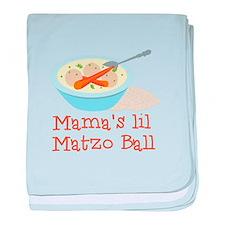 Mama's Lil Matzo Ball baby blanket
