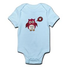 Red Love Owl Body Suit