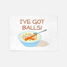 I've Got Balls! 5'x7'Area Rug