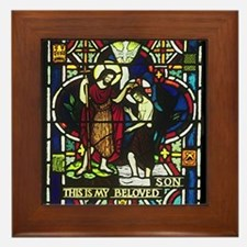 Baptism of Jesus Framed Tile