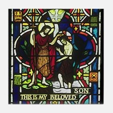 Baptism of Jesus Tile Coaster