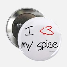 I love my spice (red heart fu Button